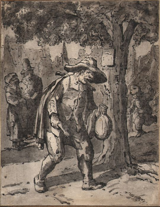 Circle of Cornelis Dusart (1660-1704) - The town-crier