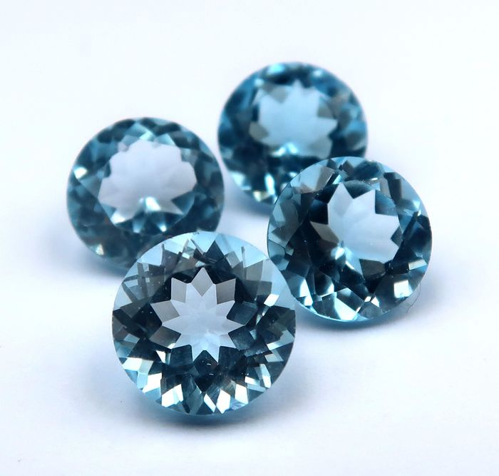 4 pcs  Topacio - 12.60 ct