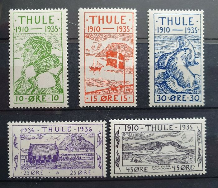 Greenland 1935 - Thule District - Michel 1-5