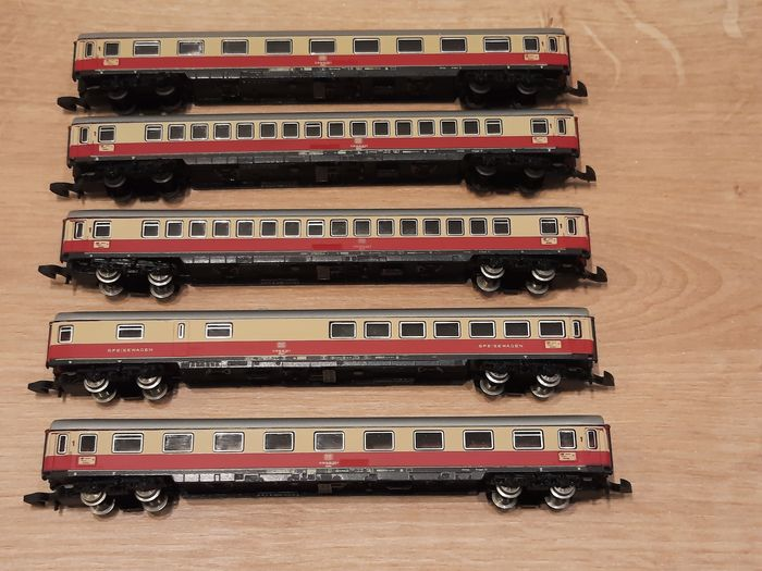 Märklin Z - 8724/8725/8726 - Passenger carriage - 5 matching TEE - DB