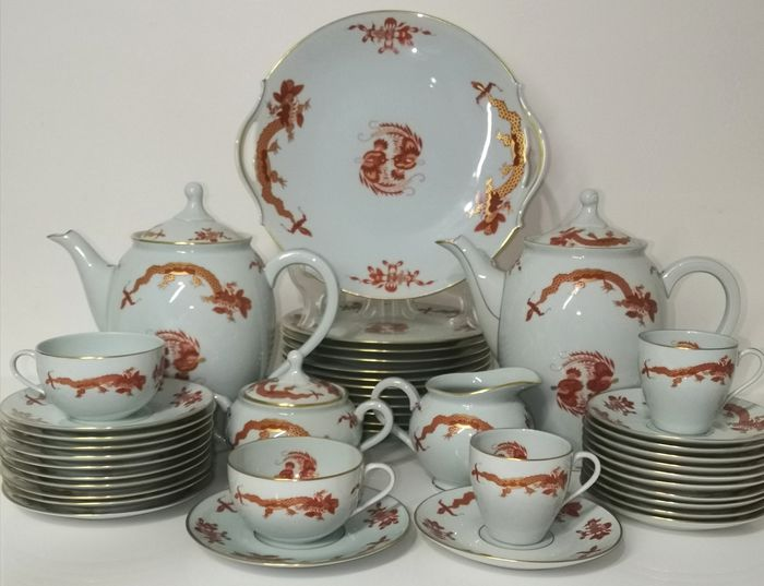 RAYNAUD & CO LIMOGES GRAND DÉPÔT DE MARSEILLE - Limoges - Tea / coffee and dessert service (60) - Porcelain