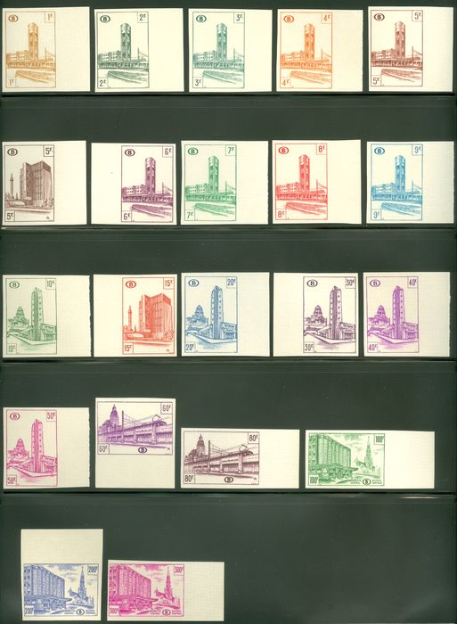 Belgium 1953 - North-South connection in Brussels - Imperforate - OBP / COB TR336/354B