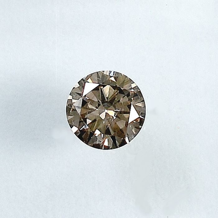 Diamond - 0.19 ct - Brilliant - Natural Fancy Light Pinkish Brown - Si2 - NO RESERVE PRICE