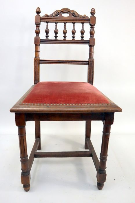Dining room chair (2) - Oak, reed - Early 20th century