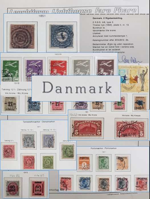 Denemarken 1851/2008 - Superb and complete collection in a huge stack of pre-printed hingeless album sheets (clear mounts) - Michel