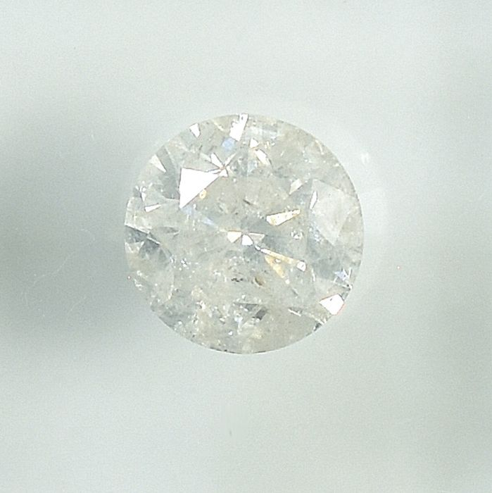 Diamant - 0.83 ct - Brillant - G - I2 - NO RESERVE PRICE - G/VG/VG