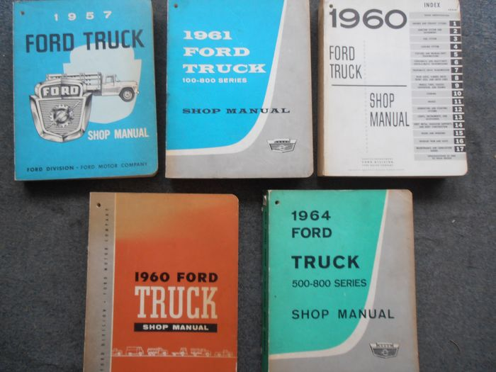 Libros - Ford truck shop manuels - Ford USA - 1950-1960