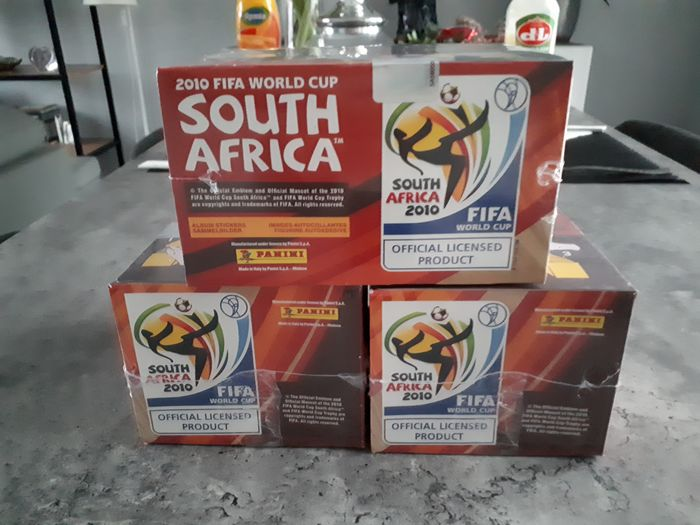 Panini - World Cup South Africa 2010 - 3 original sealed boxes
