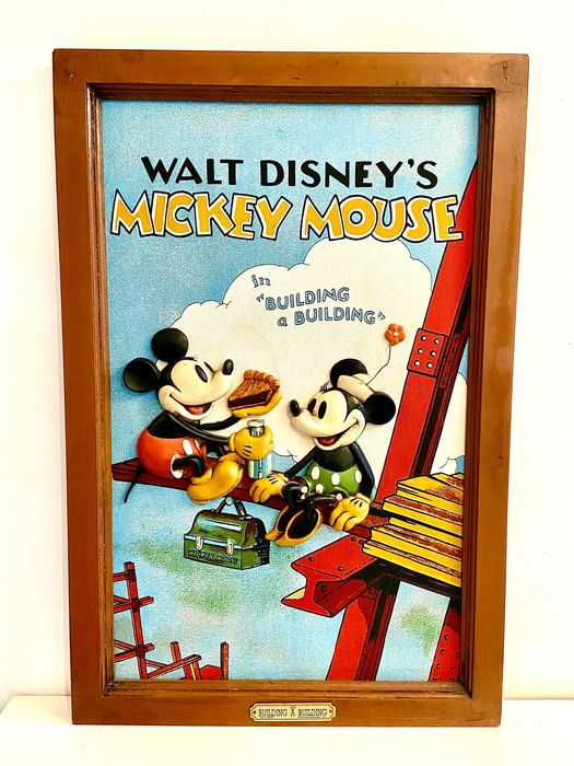 Disney - Relief Wandbord - Mickey Mouse - Building a Building