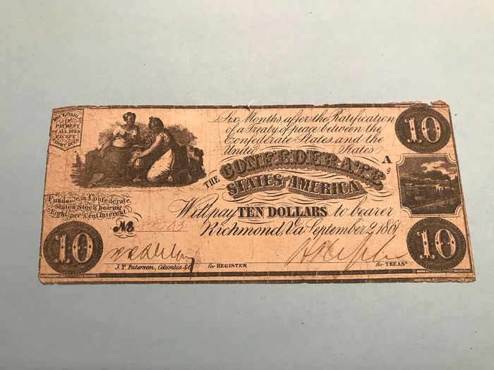 United States of America - Confederate States - 10 Dollars Septembre 2. 1861 - Pick 27a