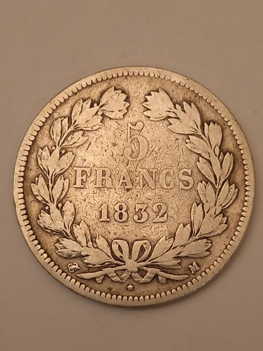 France. Louis Philippe I (1830-1848). 5 Francs 1832-M, Toulouse