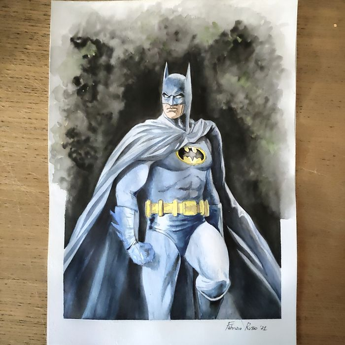 Batman - original unpublished illustration Batman, author Fabrizio Russo - Erstausgabe