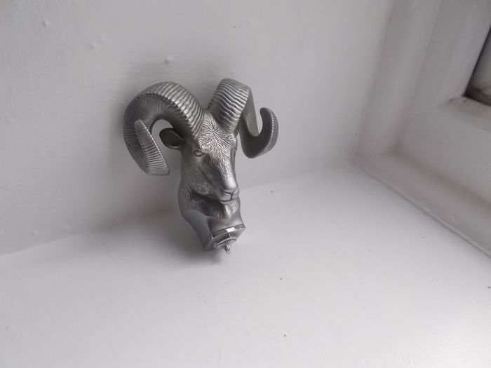 Embleem/mascotte/kenteken - Ram chrome  mascot fine detail A1 condition 1950 to 1970 - Dodge