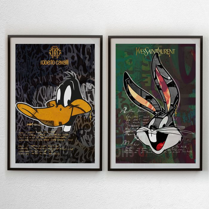 Josh Mahaby - Duffy the Cavalli Duck + Bunny Saint Laurent (LOT 2 PRINTS)
