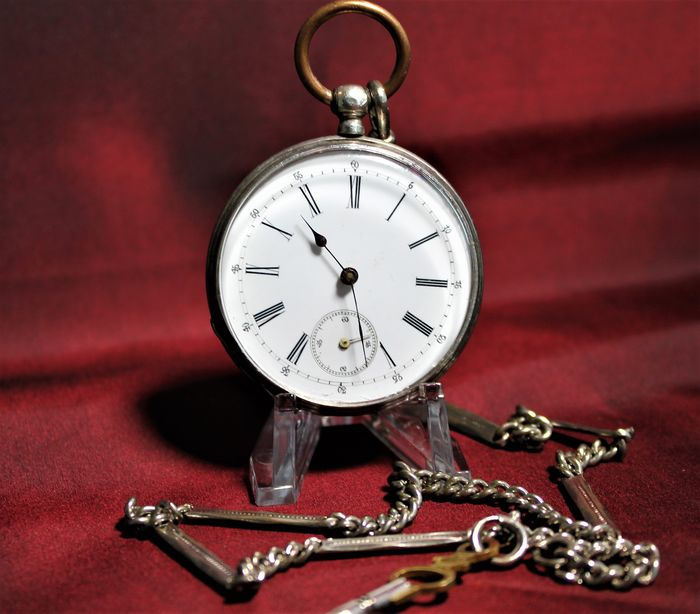 AFC Cylindre - Silver open face pocket watch - 78078 NO RESERVE PRICE - Herren - 1850-1900