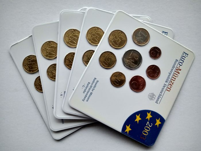Germany. Jaarset 2003 - A-D-F-G-J (5 sets) - Compleet