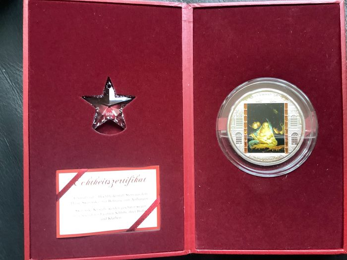 Cook-Inseln. 20 Dollars 2010 Proof - masterpiece of art de Heilige nacht by Carlo Maratha - 3 Oz