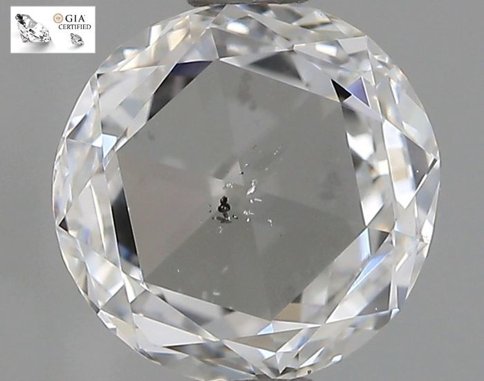 1 pcs Diamantes - 1.00 ct - Redondo - E - SI2