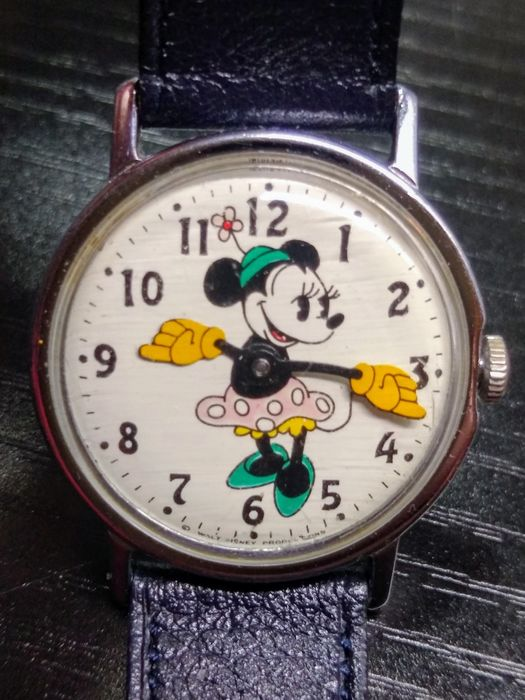 Mickey Mouse - US Time- Classic Minnie Mouse Windup Wristwatch with Louis Martin Band - (1968)