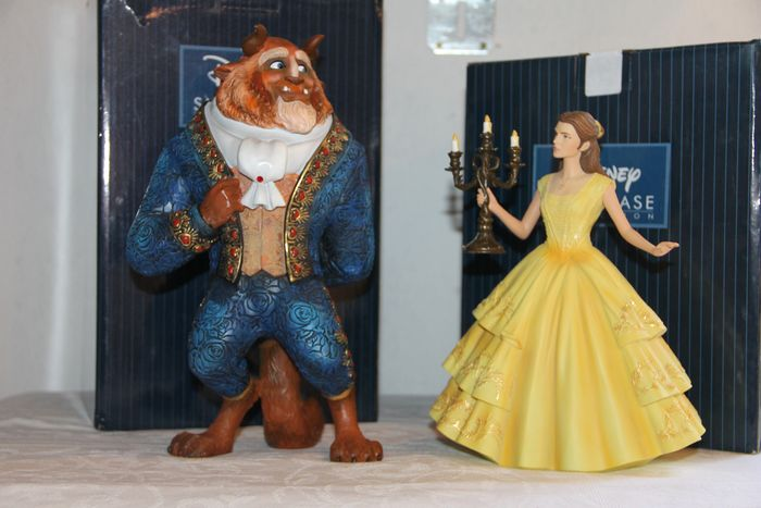 Disney Showcase Collection - 2 Beeldjes - Haute Couture - Beauty and the Beast - Beast + Belle