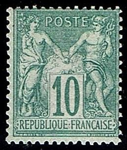 France - Sage 1876, Type I, N under B: No. 65 almost **. - Yvert 2019