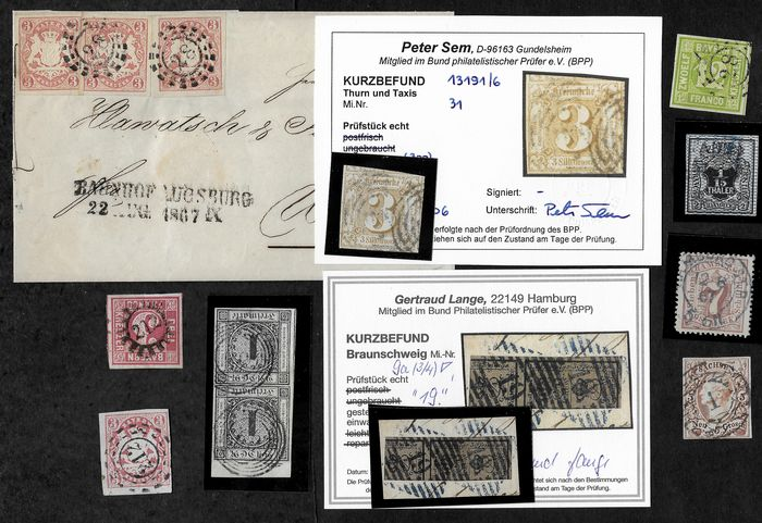 """Old Germany - """"Altdeutschland"""" (Old German States) lot with partly expertised stamps"""