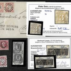 """Gamla Tyskland - """"Altdeutschland"""" (Old German States) lot with partly expertised stamps"""