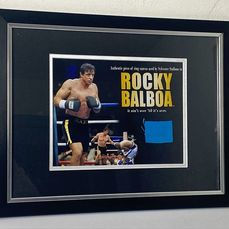 """Rocky - Sylvester Stallone - Framed Still with Screen Used Boxing Ring Canvas from """"Rocky Balboa"""" - Fotografía"""