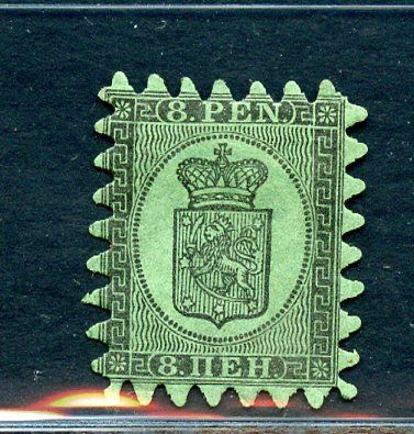 Finland 1866 - 8 p. - with tab perforation - Unificato N. 6