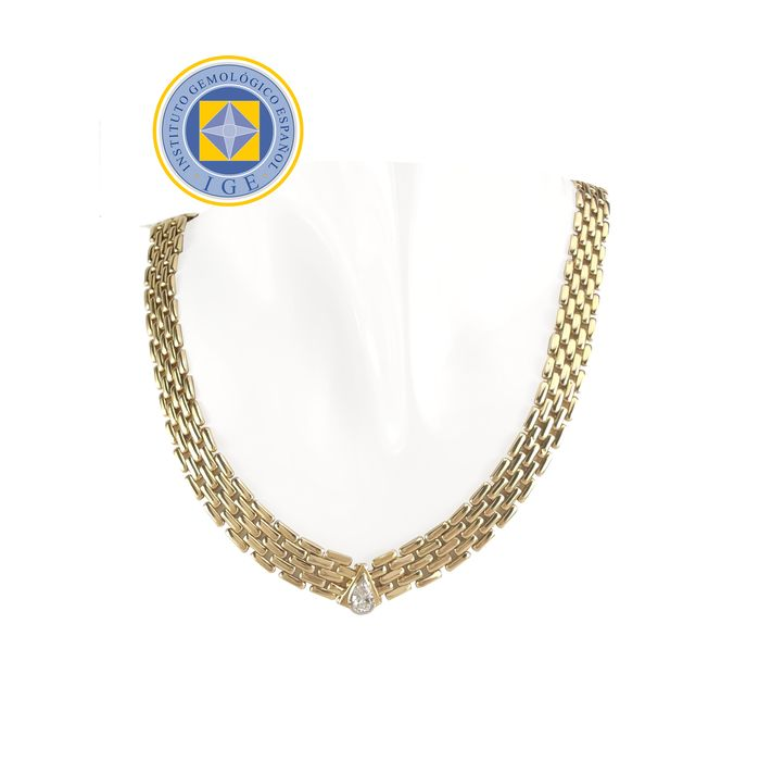 18 quilates Oro amarillo - Collar - 0.57 ct Diamante