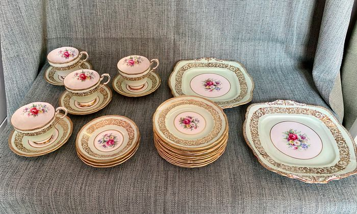 Paragon - cups and saucers for 4 and plates (20) - Porcelain