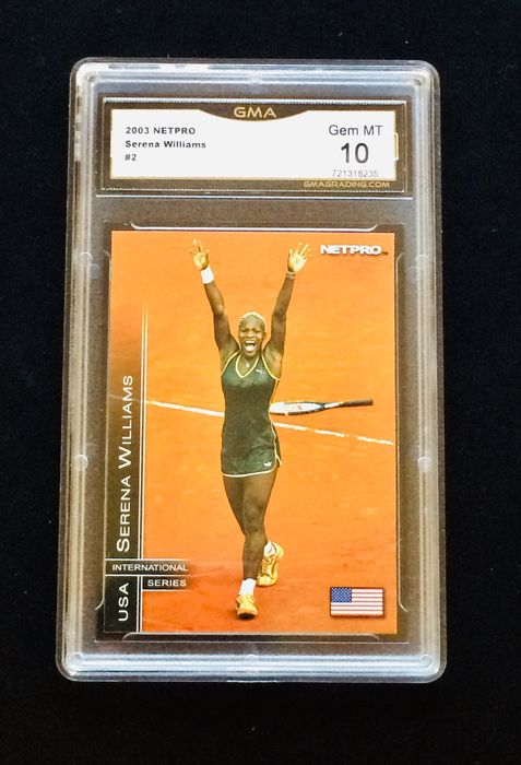 2003 Netpro - (Rookie) Serena Williams - Betygsatt GMA 10 GEM MINT - Mycket låg befolkning