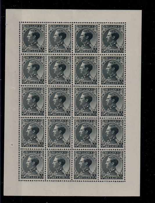 Belgien 1934 - War handicapped in small sheets of twenty stamps - OBP / COB 390+392
