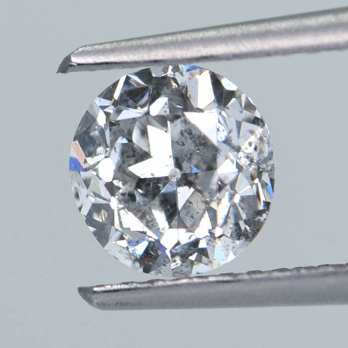 1 pcs Diamant - 0.95 ct - Ancienne coupe européenne - H - I2 GIA Certified * No Reserve Price *