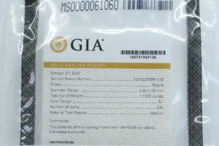 224 pcs Diamantes - 1.12 ct - Brillante - G, H, I - GIA sorted  1.00 - 1.10 mm * No Reserve Price *