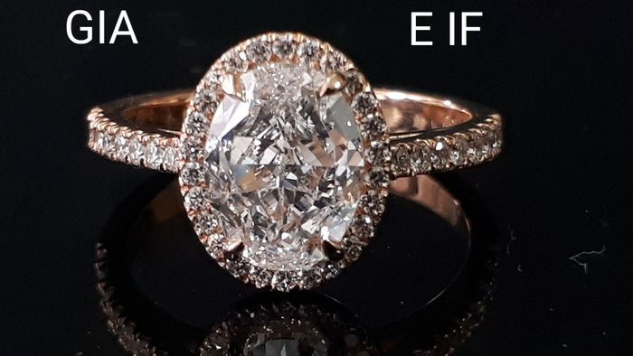 18 kt Roségold - Ring - 2.06 ct Diamant - Diamanten