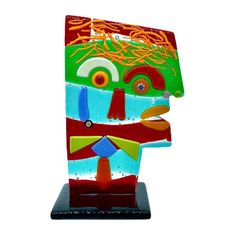 """Vitra - L.A. Murano Glass - Man face """"Tribute to Picasso"""" - Glass"""