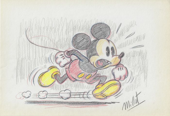 Mickey Mouse - Original Drawing Sketches - Millet