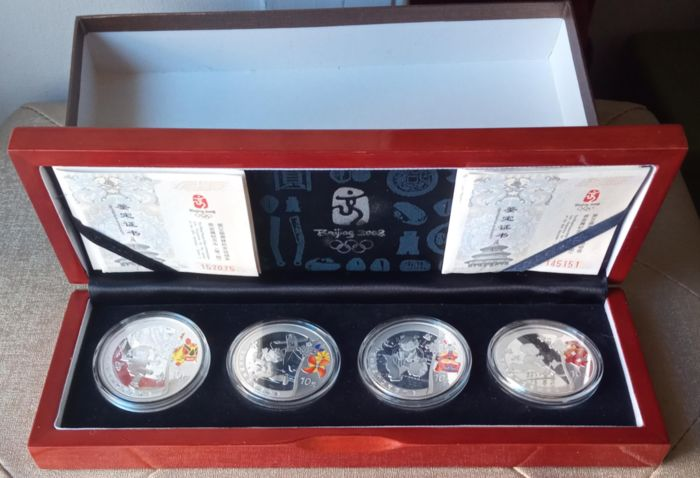 Chine. 10 Yuan 2008, Official Set of the  XXIX Olimpic Games (4 coins)