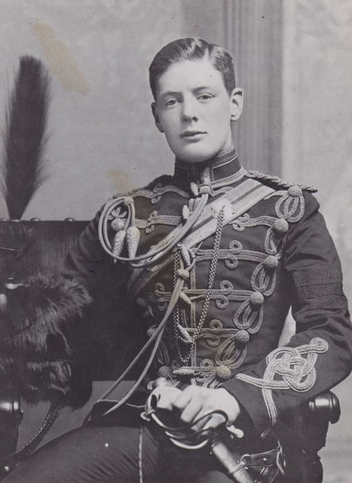 Unknown - Winston Churchill age 20 in the uniform of the Hussars