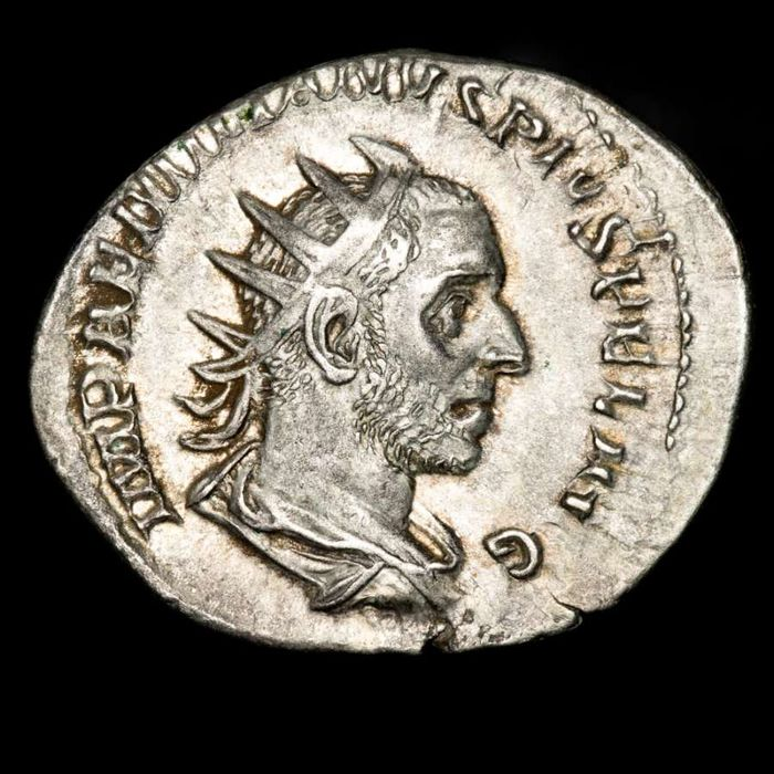 Romeinse Rijk. Aemilian (AD 253). AR Antoninianus,  Rome - PACI AVG, Pax standing left, leaning upon column to right and holding branch and sceptre