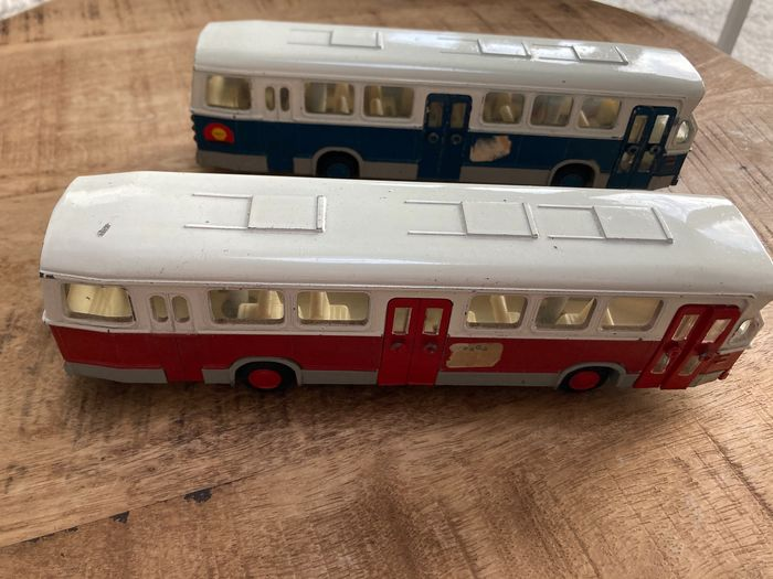 Lion Toys - 1:50 - 2x Lion toys nr 38 DAF citybus