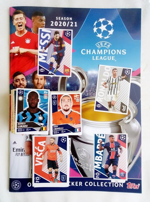 Variant Panini - Topps - Champions League 2020/21 - Empty album + complete loose stickerset