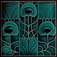 Art Nouveau Tiles Auction