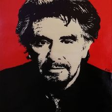 Al Pacino - by Emma Wildfang - Œuvre d'art - Acrylic on Canvas (50x70 cm)