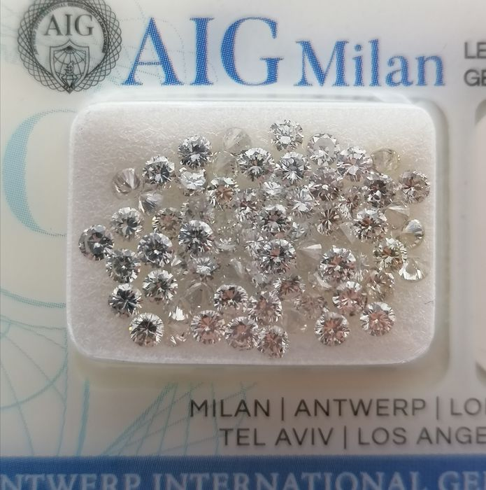 67 pcs Diamants - 3.16 ct - Brillant - D (incolore), E, F - ***no reserve price**vvs1, vvs2, vs1, vs2