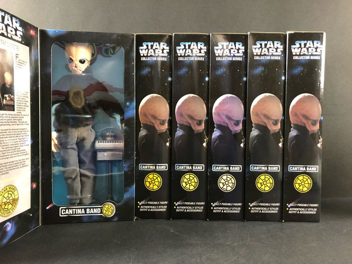 Star Wars - Lot of 6 - Cantina Band - Complete Set, new in Box - Hasbro - Beeldje(s)