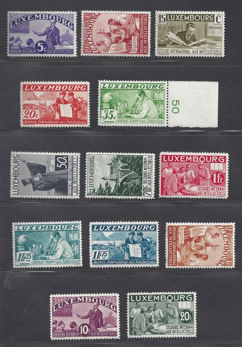 Luxembourg 1935 - Intellectuals - Michel 266/277, 279/280