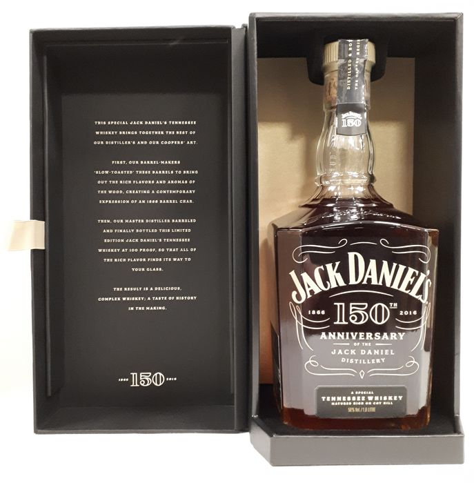 Jack Daniel's 150th Anniversary of the Jack Daniel's distillery - Original bottling - b. 2016 - 1,0 Liter