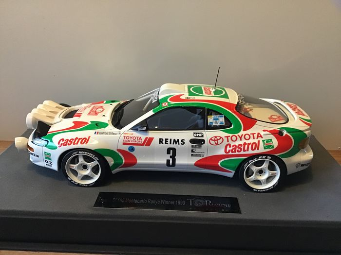 Top Marques - 1:18 - 1992 - Toyota Celica GT4 (St185) - Winner Rally Montecarlo 1993 - D. Auriol/B. Occelli - Lim.Ed. 500